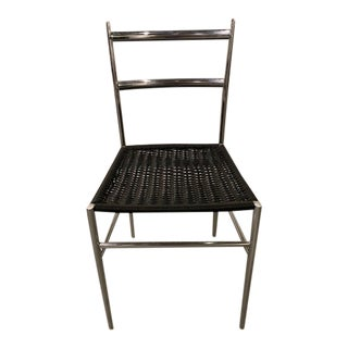 Gio Ponti Chrome Frame Leggera Chair For Sale