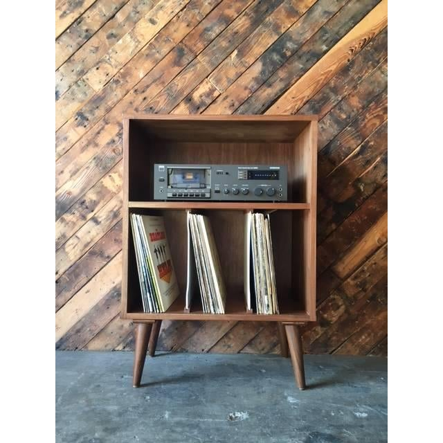 Mid Century Style Mini Credenza Record Stand - Image 3 of 6