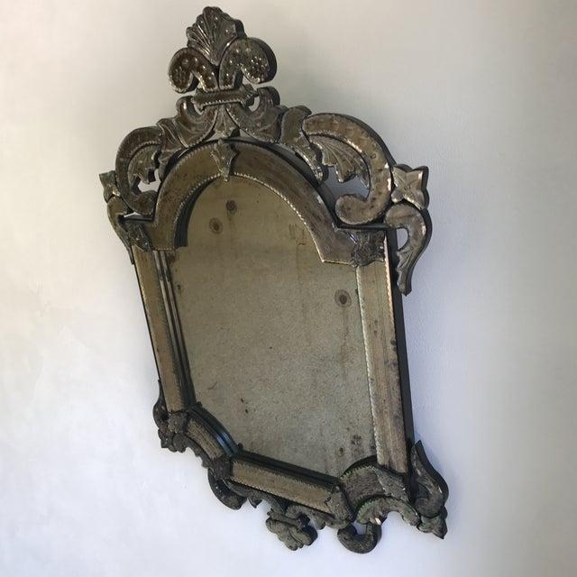 Murano Style Cut Glass Mirror - Image 3 of 8