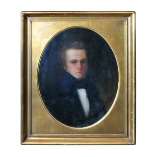 Antique Male Portrait Painting