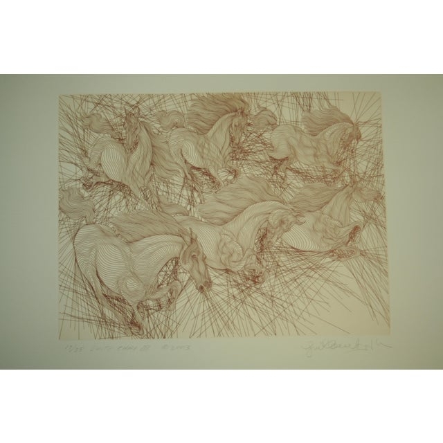 Beautiful Limited Edition Etching by Guillaume Azoulay. Hand signed and numbered 17/35 in pencil by the artist. His self...