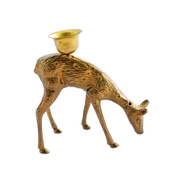 Brass Deer Candle Holder - Image 1 of 4
