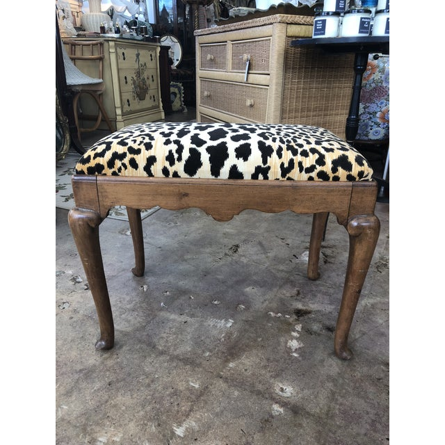 1910s Traditional Leopard Print Low Stool For Sale - Image 10 of 10
