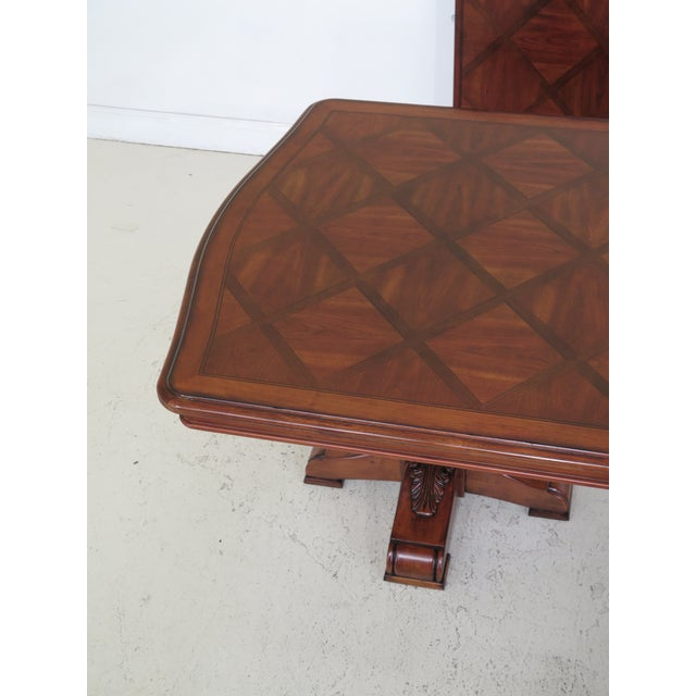 Ethan Allen Traditional Ethan Allen Tuscany Collection Walnut Finish Dining Table For Sale - Image 4 of 13