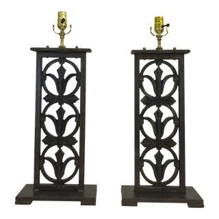 Cast Bronze Fragments Electrified - a Pair