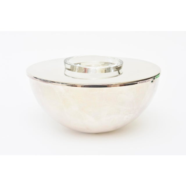 This modernist Calvin Klein for Swid Powell Silver- Plate caviar bowl or serving bowl is from the 80's. It is timeless and...