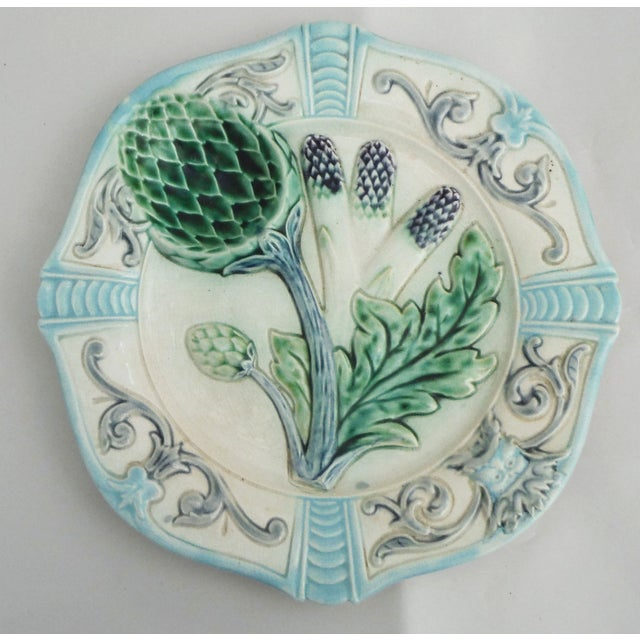 Add a dash of whimsical countryside charm to your space with this powder blue and teal palette, antique majolica plate...