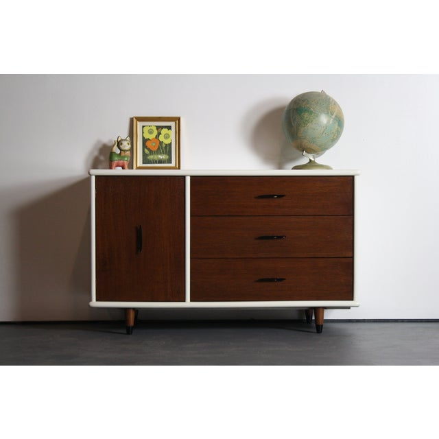 2-Tone Mid Century Modern Dresser For Sale - Image 5 of 8