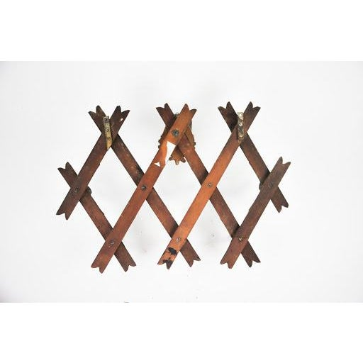 Brown Early 19th Century Black Forest Wall Mounted Hat Rack For Sale - Image 8 of 8