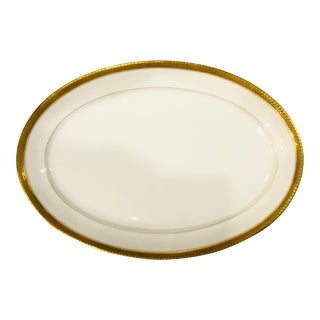 Vintage Limoges Gold and White Platter For Sale