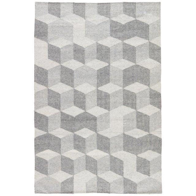 Jaipur Living Vista Indoor/ Outdoor Geometric Gray Area Rug - 8′ × 10′ For Sale