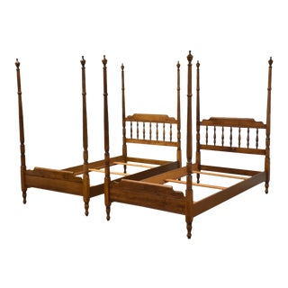 Heywood Wakefield Maple Twin Beds - a Pair For Sale
