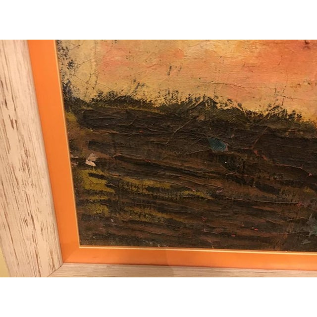 """""""The Nose"""" Framed Oil on Masonite Painting For Sale In New York - Image 6 of 6"""