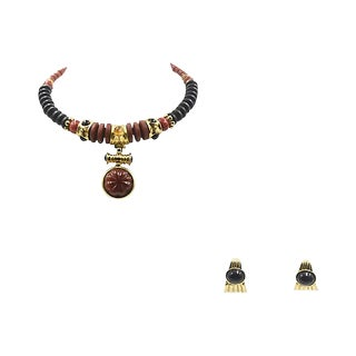 Francesca Romana Necklace & Matching Earrings For Sale