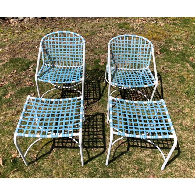 Tadao Inouye for Brown Jordan Chairs & Ottoman - Set of 4 - Image 8 of 9