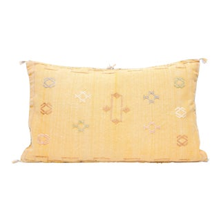 Moroccan Sabra Cactus Silk Lumbar Pillow Double Sided Cover For Sale