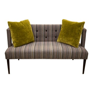 Contemporary MidCentury Style Designer Loveseat For Sale