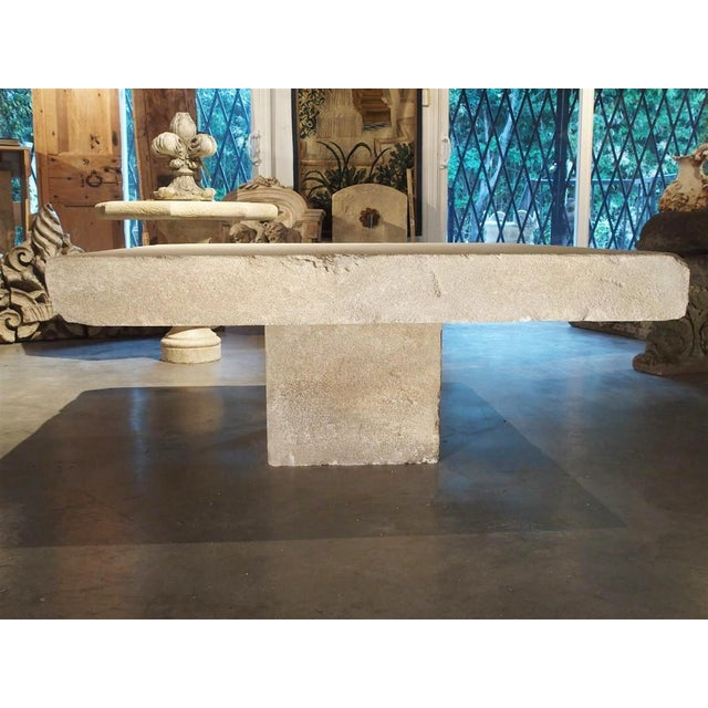 Large Limestone Coffee Table From Provence, France For Sale - Image 11 of 12