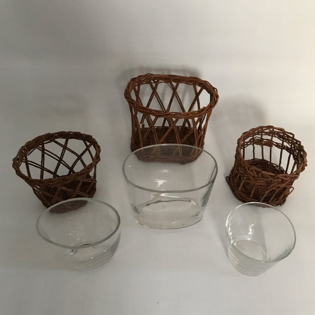 Glass Woven Vases - Set of 3 - Image 7 of 8