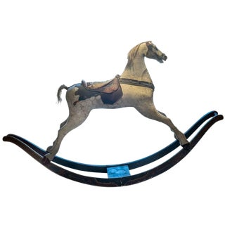 Painted Rocking Horse For Sale