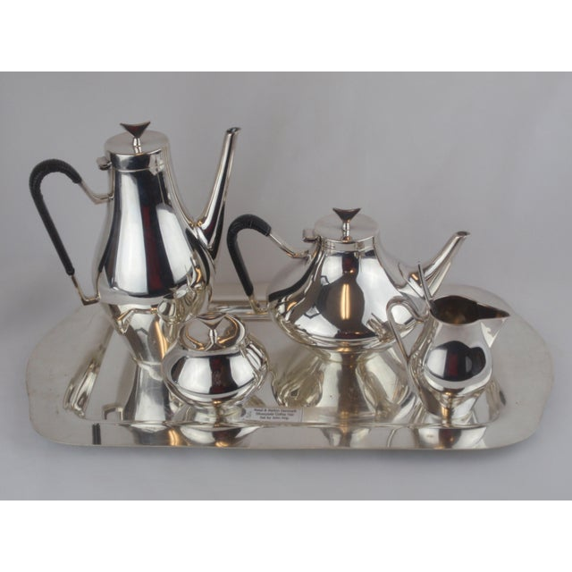 John Prip for Reed & Barton Denmark Modernist Coffee Tea Set - Image 2 of 10