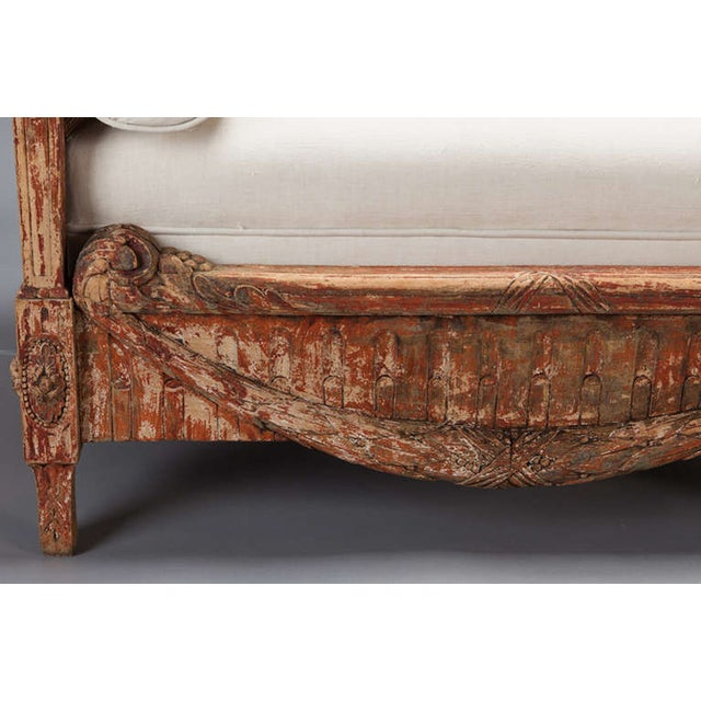 19th-Century Swedish Cane-Back Settee - Image 6 of 9