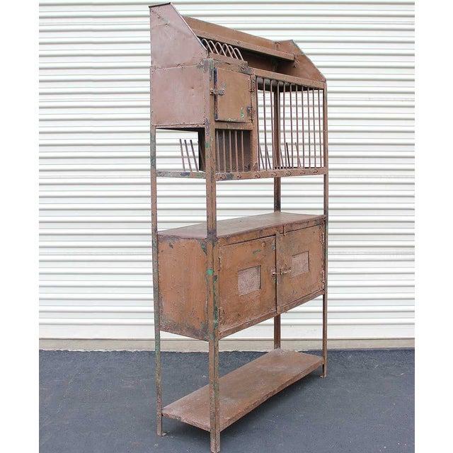 Vintage Industrial Brown Iron Rack - Image 3 of 5