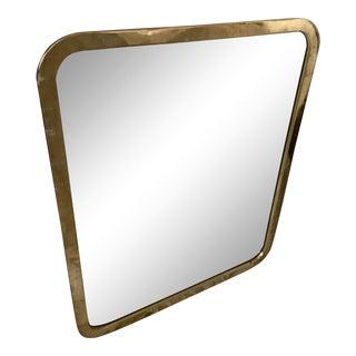 1970s Milo Baughman for Thayer Coggin Brass Wall Mirror For Sale