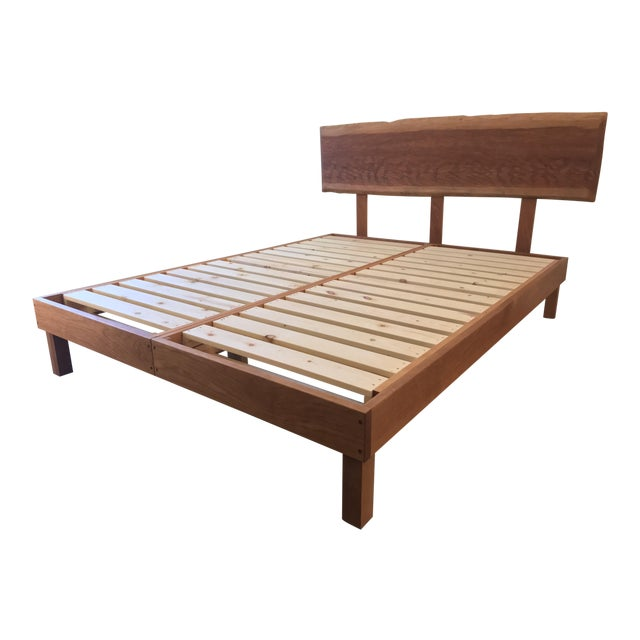 Solid Cherry Queen Bed With \