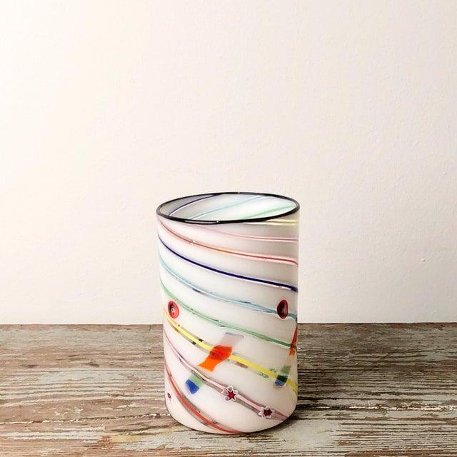 Italian 1970s Vintage Italian Murano Tumbler Vase For Sale - Image 3 of 6