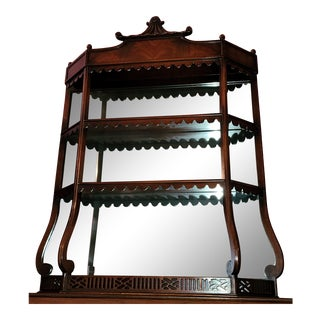 Vintage Chinoiserie Pagoda Top Wall Shelf For Sale