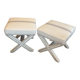 Modern Remy Ottoman- a Pair For Sale