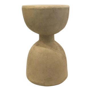 Indoor/Outdoor Modern Fiber Cement. Hourglass Stool/Table For Sale