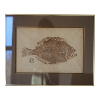 Dinah Brown Original Gyotaku Flounder Art For Sale