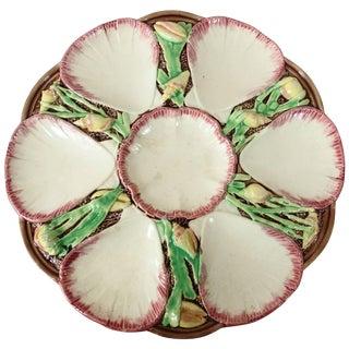 19th Century Victorian Victoria Pottery Company Majolica Oyster Plate