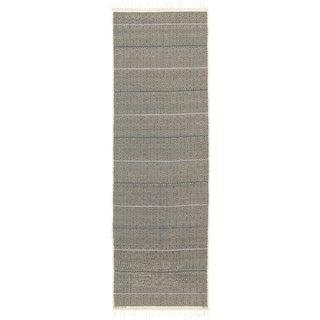 Vintage Swedish Flat Weave Rug by Barbro Nilsson- 4′3″ × 12′9″ For Sale