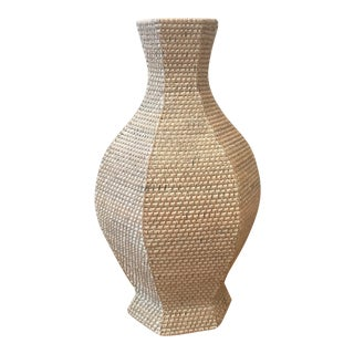 Bungalow 5 Woven Six Sided Baluster Vase For Sale
