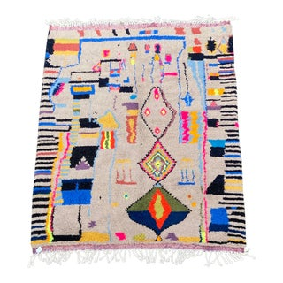 Modern Moroccan Azilal Rug For Sale