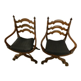 Antique Early 20th Century Spanish Side Chairs - a Pair