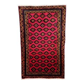 Vintage Afghan Baluch Tribal Rug - 2′8″ × 4′3″