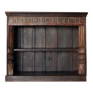 Vintage Indian Hand Carved Bookshelf For Sale