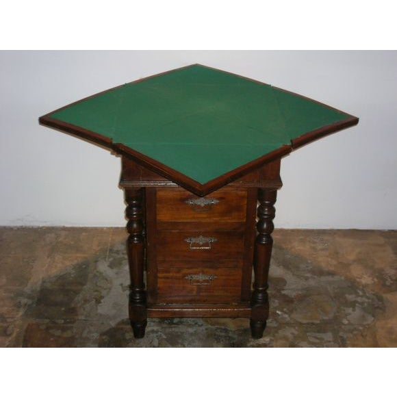 Traditional Antique English Game Table For Sale - Image 3 of 5
