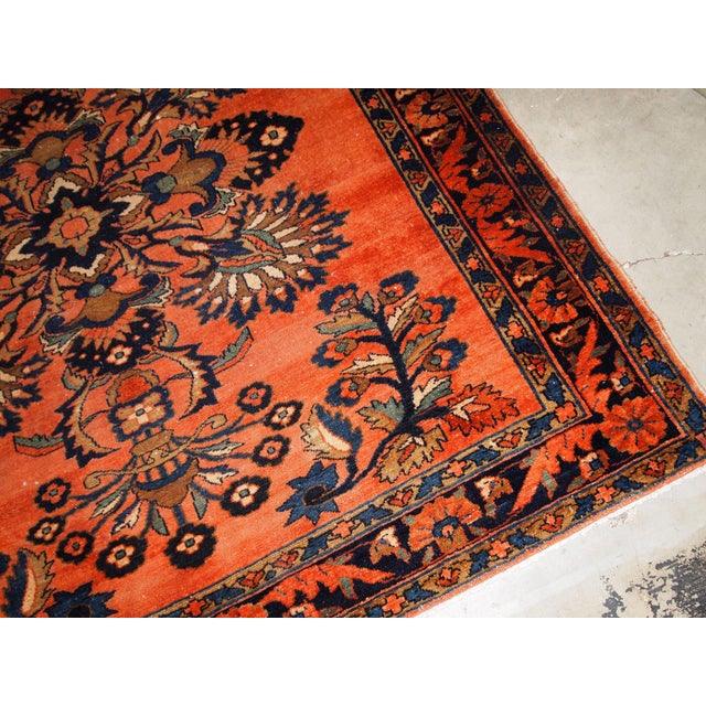1920s 1920s, Handmade Antique Persian Lilihan Rug 5.3' X 7.2' For Sale - Image 5 of 10