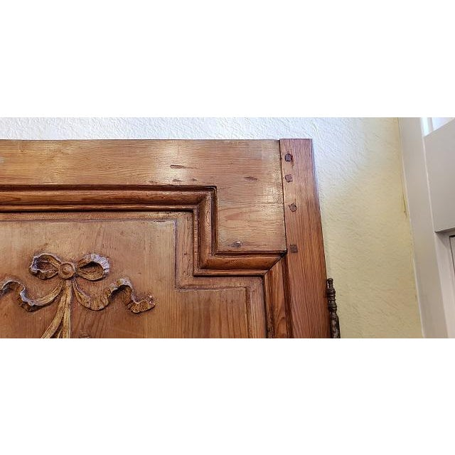 Pair of 19th Century French Pine Door Panels c.1870s Outstanding Hand Made French Door Panels - Carved w/ Musical...