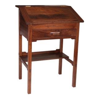 Arts and Crafts Walnut Standing Secretary Desk For Sale