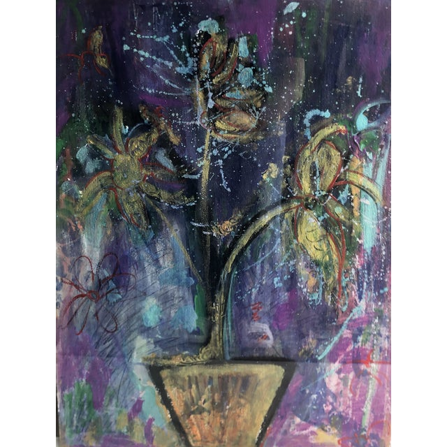 Elizabeth Martineau Abstract Hatian Painting For Sale