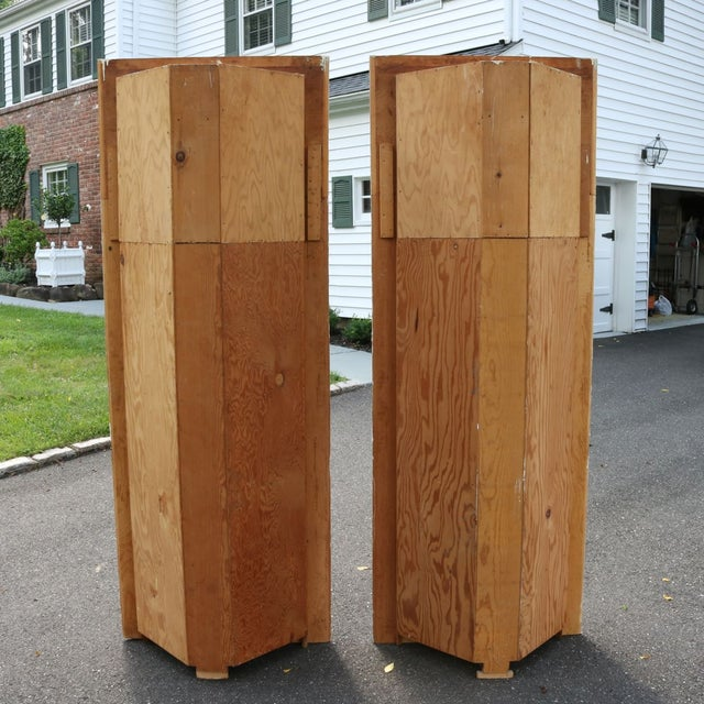 Custom Arch Panel Corner Cabinets - A Pair - Image 7 of 11