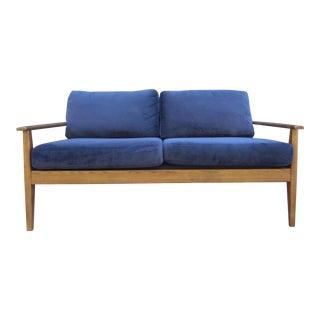 Mid Century Modern Style West Elm Loveseat For Sale