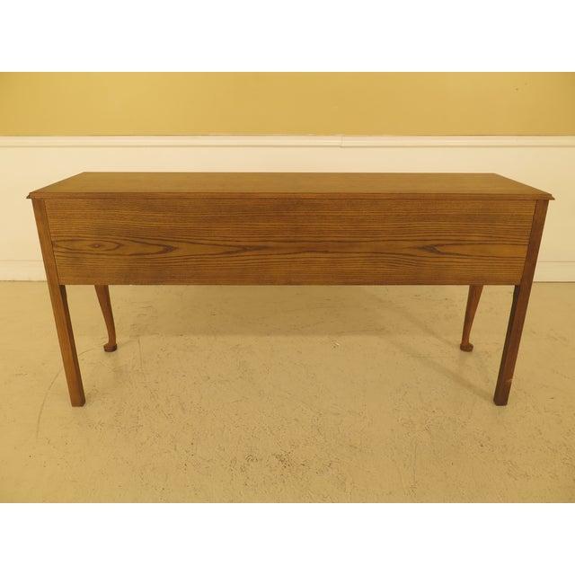 Brown Baker English Style Oak & Walnut Sideboard For Sale - Image 8 of 12