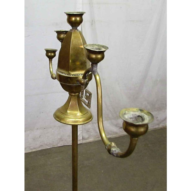 Turn of the Century Brass Standing Lamp For Sale - Image 9 of 9